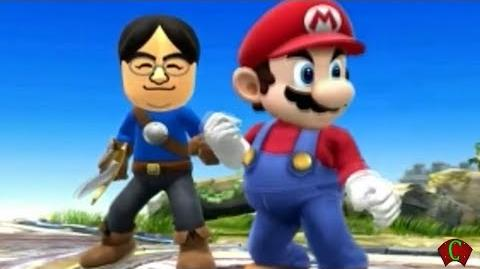 Super Smash Bros 4 'E3 2014 Trailer' Mii Reggie vs iwata (WII U 3DS Gameplay) 【All HD】 Amiibo