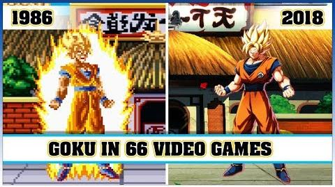 GOKU, the evolution in video games 1986 - 2018