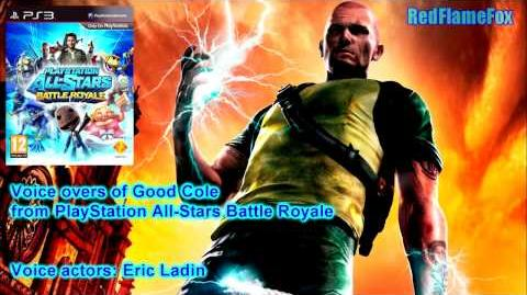 PlayStation All Stars Battle Royale Cole McGrath Voice Over