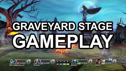 Playstation All Stars Battle Royale - The Graveyard Gameplay