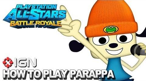 How to Use Parappa the Rapper in PlayStation All-Stars Battle Royale
