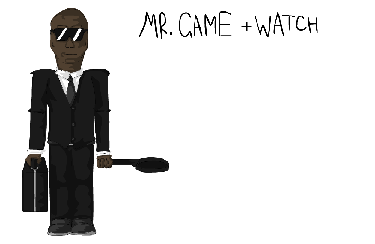 image realistic mr game and watch png playstation all stars