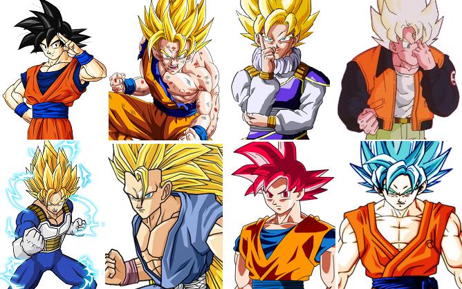 Goku Ssj4 Vs Goku Ssjd Quién Gana En Una Pelea Mi: Todas Las Fases De Goku Para Colorear