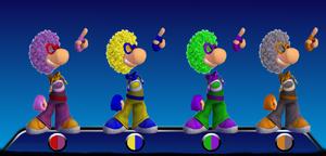 Disco Rayman Color Palletes