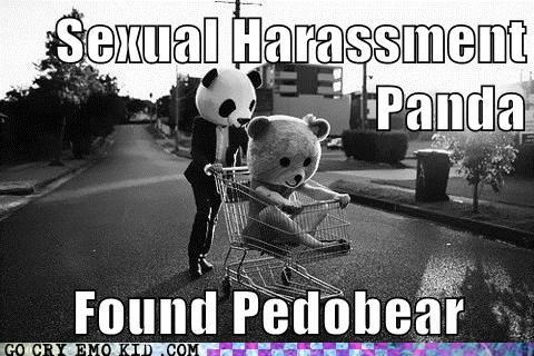 Sexual harassment panda watching