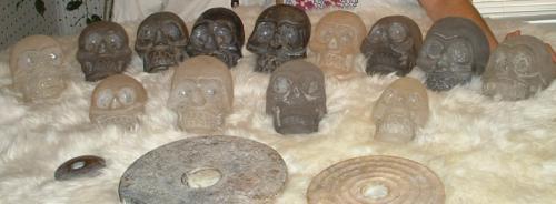 Himalayan skulls dropa discs