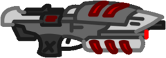 Red assault rifle