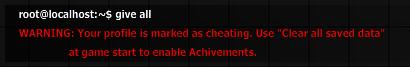 Cheater warning