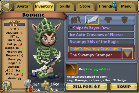Thiefs swampy crossbow