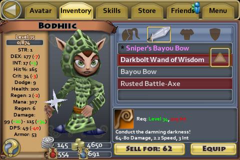 Darkbolt Wand of Wisdom