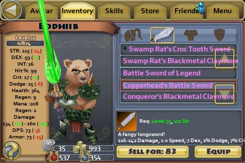 Copperhead's Battle Sword