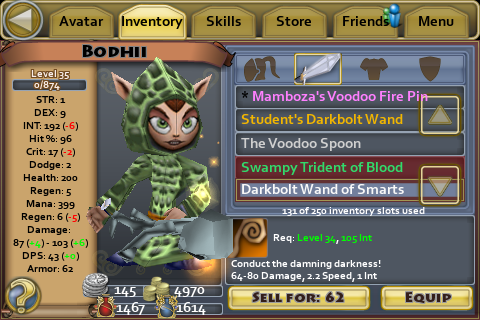 Darkbolt Wand of Smarts