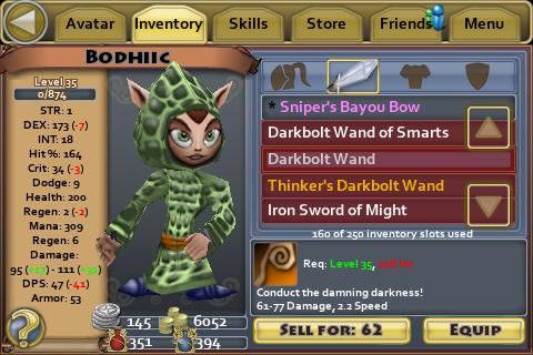 Darkbolt Wand