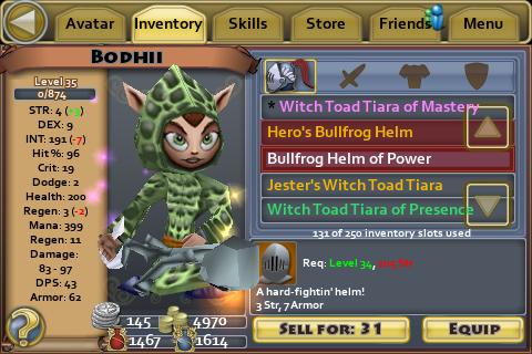 Bullfrog Helm of Power