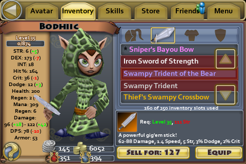 Swampy Trident of the Bear