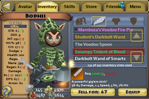 Swampy Trident of Blood
