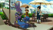 Beerus słucha rozmowy Vegety i Goku (DBS, film 001)