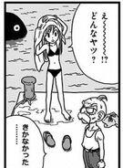 4. Powrót na wyspę (08) Omori i Tights rozmawiają o kosmicie, który ma przybyć na Ziemię