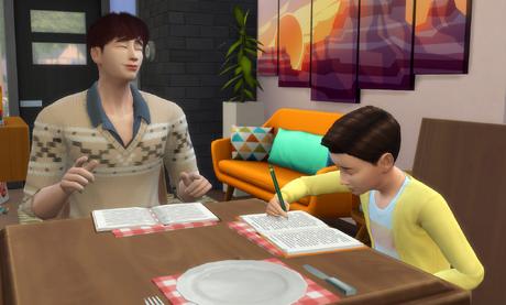 Sims 4 Simowie odrabiający lekcje