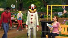 Tragiczny Klaun w The Sims 4