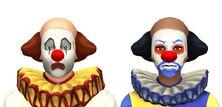 Meska i zenska wersja klauna