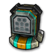 Missile circle C icon