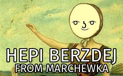 Marchewkeł składa życzenia hehehehe