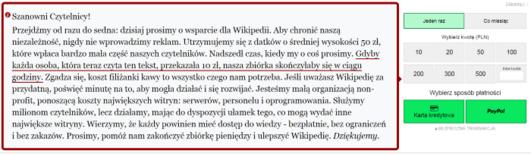 Pieniądze na Wikipedii