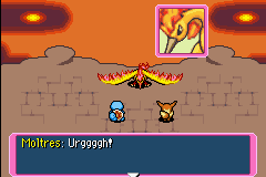 Moltres defeated