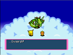 Rayquaza defeated