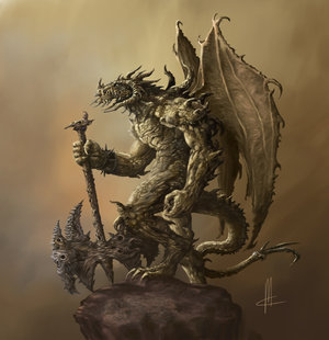 Humanoid dragon final by TheBeke