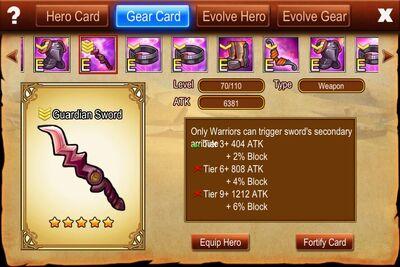 Guardian Sword - warrior type weapon