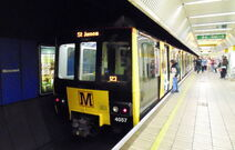 4057 at Monument Metro station, Newcastle, 20 June 2015 (crop)