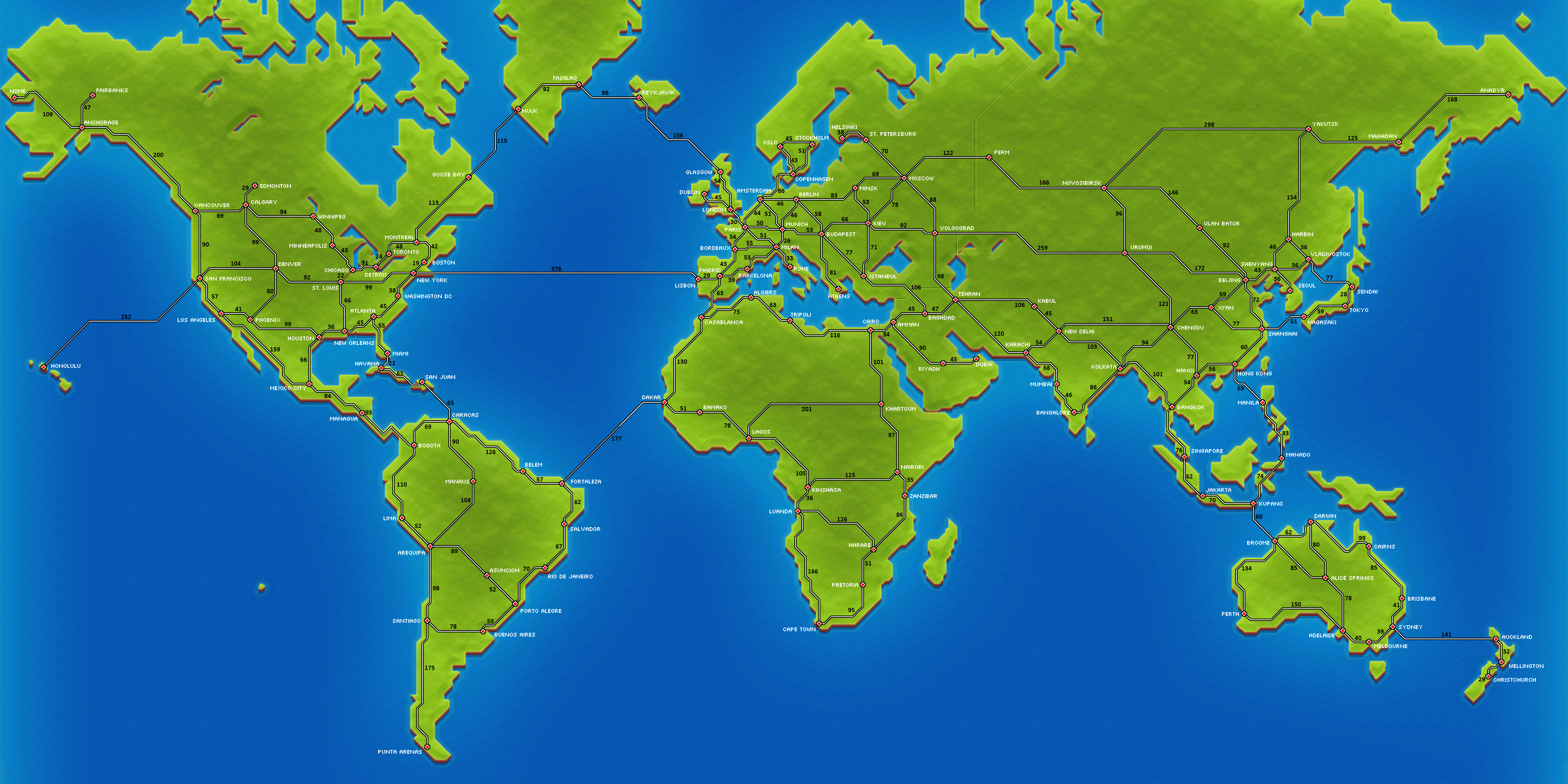 Map Pocket Trains Wiki FANDOM Powered By Wikia - Full world map