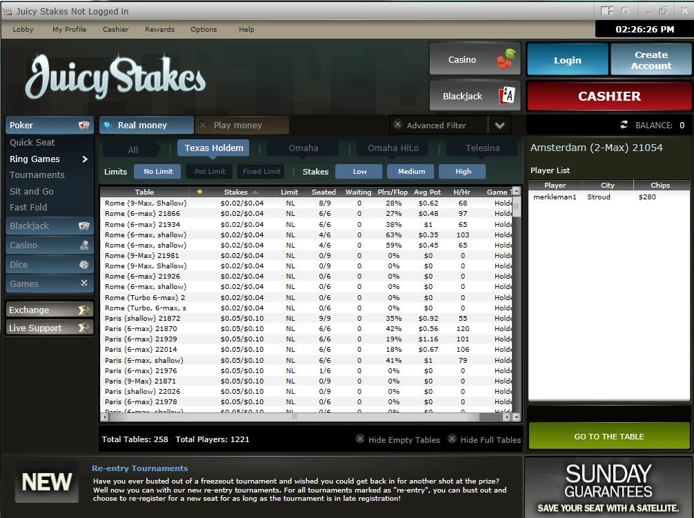 Juicy Stakes Poker