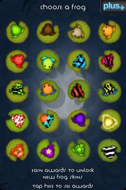 Dizzypad frog select screen