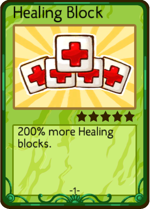 Healing Block (Card) | Pocket Mine Wiki | FANDOM powered by