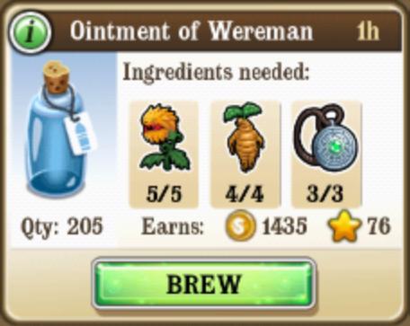 Ointment if wereman