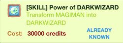 Power of DARKWIZARD