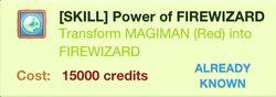 Power of FIREWIZARD