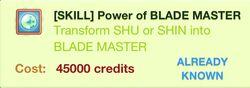 Power of BLADEMASTER