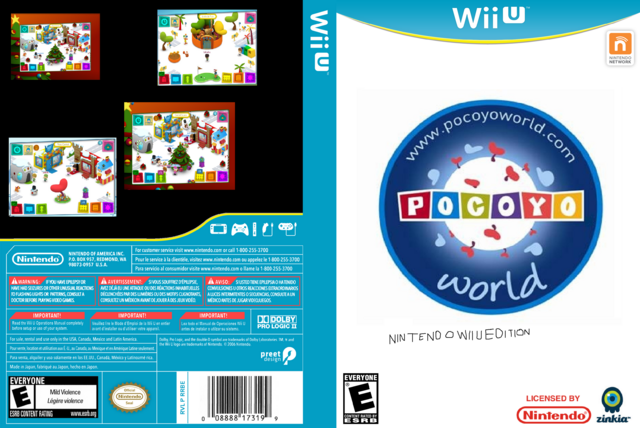 Image Wii U Game Cover Box Art Front Template By Pocoyo World