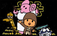 Commission pocoyo goes star wars by laylazer-d5s9ve9