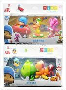 2-styles-cartoon-pocoyo-action-figure-genuine (1) fish taxi