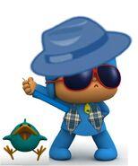 Sombrero azul pocoyo