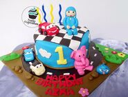 Pocoyo and cars cupcake