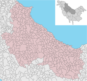Región de Muntea y Vlacea map