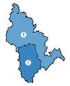 DROBICE Condado Mapa