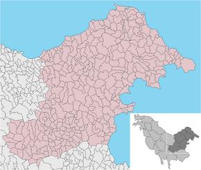SALBONIA Región mapa