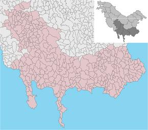 MOLDENIA Región mapa